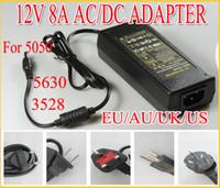 Wholesale Hot sale newnest V to DC V A Power Adapter Supply Charger For SMD LED Strips Light EU USA UK Plug