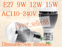 Wholesale Bubble Ball Bulb AC85 V W W W E27 B22 E14 GU10 High power Globe light LED Light Bulb