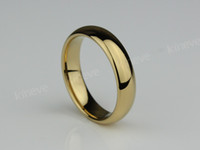 Wholesale 5MM Tungsten Carbide Ring Gold Tone engagment Wedding Band Women s