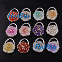 Wholesale Folding Handbag Purse Bag Hanger Durable Table Hook Hang Holder Flower Shape