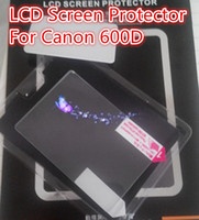 Wholesale Self Adhesive Optical mm LCD Screen Protector Cover Flim for Canon D camera