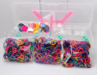 Wholesale Cheap convenience Rainbow loom kits rubber bands loom kit DIY Bracelet Loom Bands For Children Xmas Gifts hw2