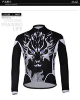 Wholesale Bicycle Team Ghost Wlof long sleeve Cycling jersey Anti Shrink short pants cycling clothes Outdoor trekking bicycle suit S XXXL cjs3