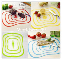 Wholesale Chopping Cutting Board Hygienic Kitchen Plastic Vegetable Fruit Mat Chopping Blocks