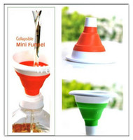 Wholesale Mini Silicone Gel Practical Foldable Funnel Collapsible Kitchen Tool Cute