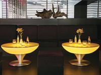 Bar led furniture - New fashion Led shinng table RGB color for bar party furniture decoration Furniture plastic furniture