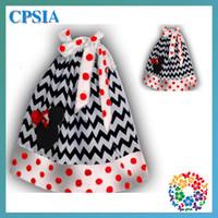TuTu Summer A-Line Petti Chevron Minnie Mouse Cotton Pillowcase dress For girls Christmas Red Cotton Pillow case dress on sale DHL free shipping -24pcs lot 08