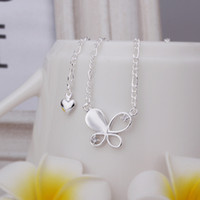 Wholesale New Arrival Sterling Silver Anklets Silver Fashion Jewelry Inlay Butterfly Anklets