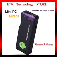 Wholesale media player wifi google tv box Android Internet TV box Allwinner A10 Cortex A8 GHz RAM GB ROM GB