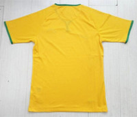 Wholesale 2014 world cup brazil home yellow thailand quality AAA soccer jersey Brasil football jersey customized shirt