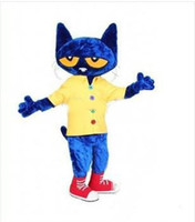 Wholesale Cartoon Clothing Pete the Cat Mascot Costume Fancy Dress factory direct good quality