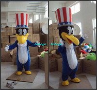 Mascot Costumes Free Size Movie/Music Stars Cartoon Clothing,2013new Top sales Cute Duck With A Top-hat Cartoon Character Mascot Costume Classic Halloween Costumes Fancy Dress