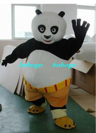 Wholesale Cartoon Clothing fast shipping Mascot Costume Kung Fu Panda Cartoon Character Costume Adult Size and retail good quality