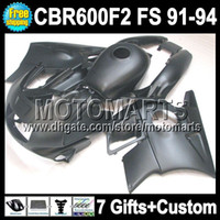 Comression Mold For Honda CBR600 F2 7gifts+ 91 92 93 94 For HONDA 91-94 CBR600F2 ALL Flat black CBR 600F2 1992 1993 MT41765 CBR600 F2 FS Matte CBR 600 F2 1991 1994 Fairings