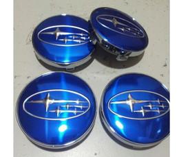 Subaru Impreza Legacy Forester Tribeca STI WRX Wheel Center Hub Caps 59mm BLUE