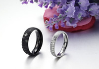 Unisex ruby ring and diamond - 10 off Cheap jewellery married diamond ring fashion jewelry black and white pearl sand lovers rings titanium steel ring pair TY