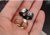 Couple Rings real diamonds - 10 off Charm quot real love quot rings diamond jewelry trident buddhist monastic discipline titanium steel couples ring pair TY