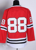 Wholesale 2013 Stanley Champion Ice Hockey Jerseys Men s Patrick Kane Red White Black Hockey Jerseys Mix Order
