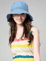 Wholesale Fresh Unicolor Bow Spandex Women s Hat floppy u8 lmi