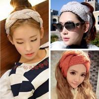 Wholesale new twist spiral wool knitted warm winter headband women hair restraints hat fashion apparel accessaries FD218