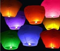 Big Kids Multicolor Paper 100pcs lot Sky Lanterns,Wishing Lantern fire balloon Chinese Kongming lantern Wishing Lamp for Chrismas