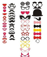 Christmas Event & Party Supplies Wedding NEW product free shipping! 50pcs Photo Booth Props Hat Mustache On A Stick Wedding Birthday party fun favor