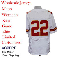 Wholesale Cheap American football Jerseys Kansas City Dexter McCluster White men s Elite Jerseys Allow mix order Discount Hot selling