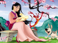 Wholesale Chinese motivitional female heroine story cartoon movie Hua mulan positive movie for youngster case packed DVD Chinese authorised edition