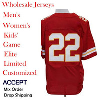 Wholesale Cheap American football Jerseys Kansas City Dexter McCluster Red color men s Elite Jerseys Allow mix order Discount Hot selling