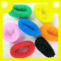 Wholesale 2014 Fashion Kids Baby Girl Tiny Hair accessaries Rainbow Bands Elastic Ties Ponytail Holder Ponies