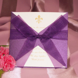 Wholesale Bowknot is individuality creative invitations European style wedding invitations