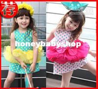 TuTu Summer A-Line Wholesale - hot sale new arrived Girls dress baby dress Sling dresses girls vest TU TU dress Gauze skirt