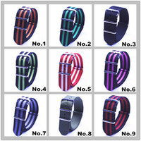 Wholesale High quality MM Nylon Watch band NATO watch strap zulu fashion wach band color available