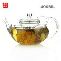 Wholesale Heat resistant glass teapot ml design of the lid to prevent broken Blooming Tea flower tea Special teapot