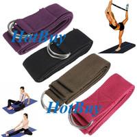 Cheap Yoga Stretch Strap D-Ring Belt Figure Waist Leg Fitness Exercise Gym #2281