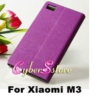 For Xiaomi M3 wooden stand - High Quality Wood Wooden Flip Folio PU Wallet Leather Case Cover With Credit Card Pouch Holder Stand For Xiaomi MI3 M3