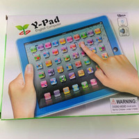 Wholesale DHL EMS ypad Y pad Table Learning Machine English Computer for Kids Children Educational Toys Music Led