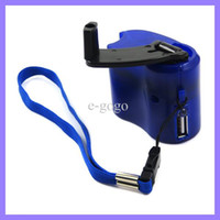 Wholesale Hand Wind up Power Bank Dynamo Crank Charger Kit For Mobile Phone LG Nokia Travel Portable Emergency