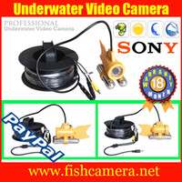 Wholesale Freeshipping M Cable CCTV Underwater Camera Fishing Camera Fish Finder Sony CCD White LED Nightvision Waterprof IP68