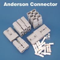 al por mayor poder de anderson-Conector libre del envío 50A Anderson Conectador corriente grande de la batería del terminal de la corriente del enchufe