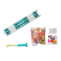Big Kids Multicolor Silicone 100 Pcs lot + New arrivals Christmas toys Original Rainbow Loom bands Kit and Tie Dye Rubber Bands colorful Bracelet