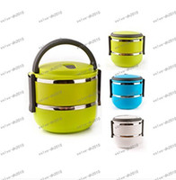 Metal   LLFA3472 Homio Double Layer Stainless Steel Children Lunch Box 1.4L Keep Warm Food Container For Kids