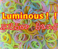 Wholesale Christmas toys NEW Loom Rubber Bands pc Glow in The Dark Rubber Band Refill Pack Blending Latex Free Twilight Bracelet
