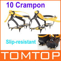 Wholesale Strap Type Crampons Ski Belt High Altitude Hiking Slip resistant Crampon Ice Gripper for Winter Outdoor Skiing H10057