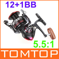 Wholesale 12 BB Ball Bearings Left Right Interchangeable Collapsible Handle Fishing Spinning Reel LK5000 for Outdoor Sports H10050