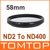 Wholesale 58mm Camera Filter Lens Adapter ND Fader Neutral Density Adjustable ND2 to ND400 Variable Filter Camera Accessory D935