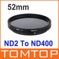 Wholesale 52mm ND Fader Neutral Density Adjustable ND2 to ND400 Variable Filter Camera Accessory D934