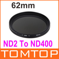 Wholesale 62mm Camera Filter Lens Adapter ND Fader Neutral Density Adjustable ND2 to ND400 Variable Filter Hot Sale Camera Tool Accessory Kit D936