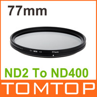 Wholesale 77mm ND Fader Neutral Density Adjustable ND2 to ND400 Variable Filter New Arrival Camera Lens Adapter Set Kit Tool Accessory D939