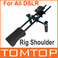 Wholesale DSLR Rig Shoulder Pad Support Video Stabilizer Built in Spirit Level for All DSLR Cameras Video Camcorders D941